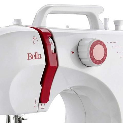 Imagem de Máquina de Costura Elgin Bella BL 1200 com 6 pontos úteis e Luz na Costura Bivolt  Branca/Lilás