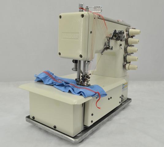 Imagem de Máquina de Costura Galoneira Industrial c/ Direct Drive Completa, 3 Agulhas, 5 Fios, 3000rpm, BC5000, AT/Bivolt