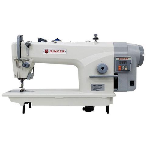 Imagem de Máquina de Costura Industrial Reta SINGER com Motor Direct Drive, parada de agulha, corte de linha, painel integrado e ponto de até 5 milímetros 141G