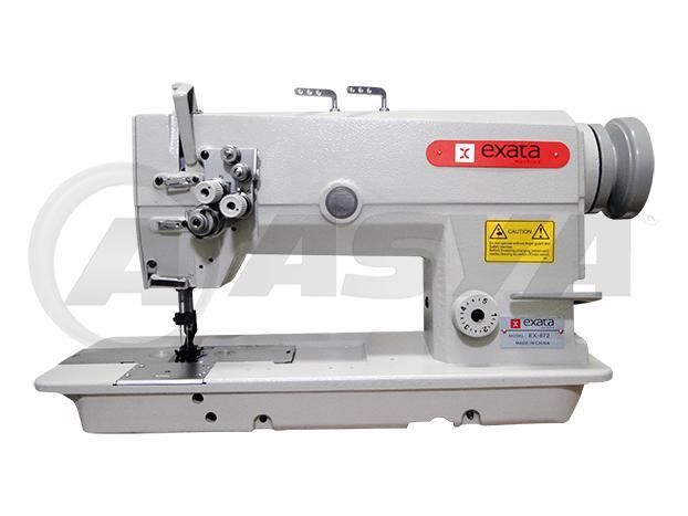 Imagem de Máquina de Costura Pespontadeira Industrial, 2 Agulhas, Transp. Duplo, Ponto Fixo, 3000ppm, EX872-5