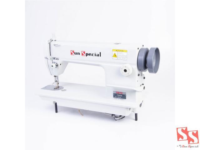 Imagem de Máquina de Costura Reta Industrial, 1 Agulha, Ponto Fixo, Transp. Simples, Lubrif. Automática, 5000ppm, SSTC7250M