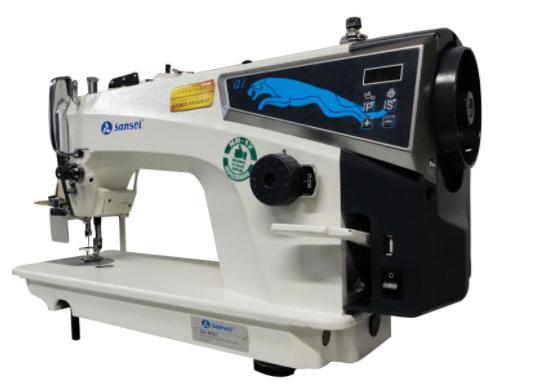 Imagem de Máquina de Costura Reta Industrial c/ Direct Drive, 1 Agulha, 2 Fios, Transp. Simples, Lubrif. Automática, Lanç. Pequena, SA-MQ1