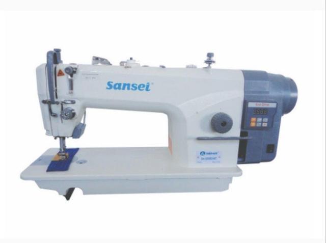 Imagem de Maquina de Costura Reta Sansei com Motor direct drive e corte de Linha Modelo SA-G9050-NT