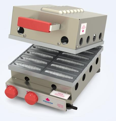 Imagem de máquina de crepe suíço gás PRK-120G Progás