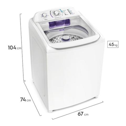 Imagem de Máquina de Lavar 13Kg Electrolux Branca Premium Care Silenciosa, Cesto inox e Jet&Clean (LPR13)