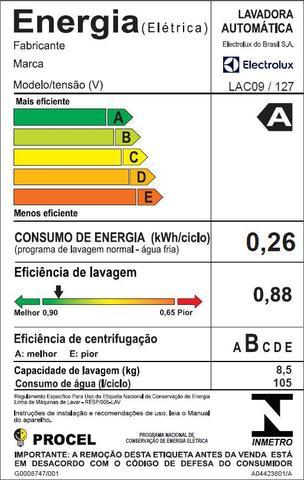 Imagem de Máquina de Lavar 8,5kg Electrolux Branca Turbo Economia, Jet&Clean e Filtro Fiapos (LAC09)