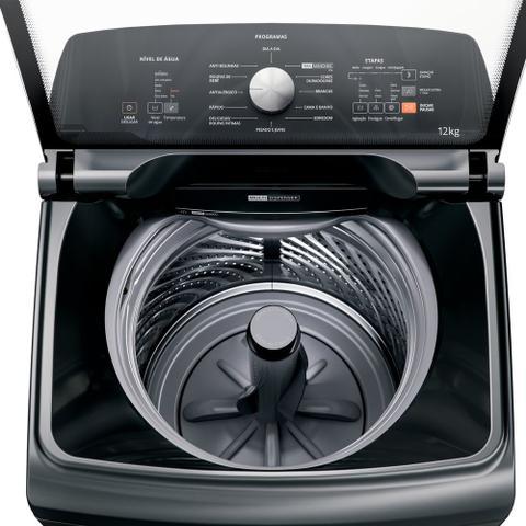 Imagem de Máquina de Lavar Brastemp 12Kg titânio Água Quente com Ciclo Tira Manchas Pro e Ciclo Antibolinha