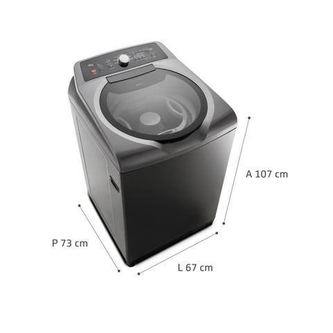 Imagem de Máquina de Lavar Brastemp 15kg Double Wash Grafite Metálico com Ciclo Edredom