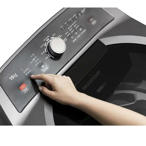 Imagem de Máquina de Lavar com Dois Cestos Brastemp 15kg Grafite Metálico com Ciclo Edredom - BWD15A9
