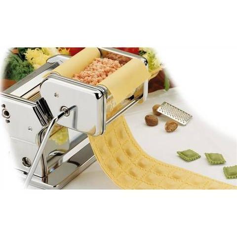 Imagem de Maquina De Preparar Massa E Ravióli Dupla Em Inox Cilindro Manual