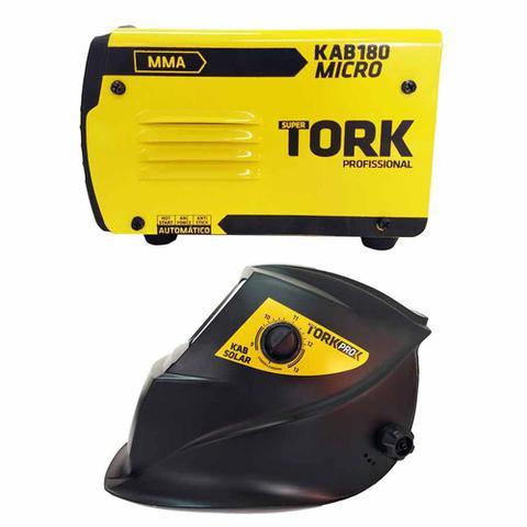 Imagem de Máquina de Solda Inversora Kab 180 Micro IE 6180 Com Máscara de solda Super Tork