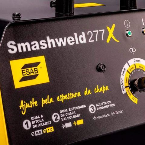 Imagem de Máquina de Solda MIG/MAG Smashweld 277X 250A à 100% 220/380V ESAB