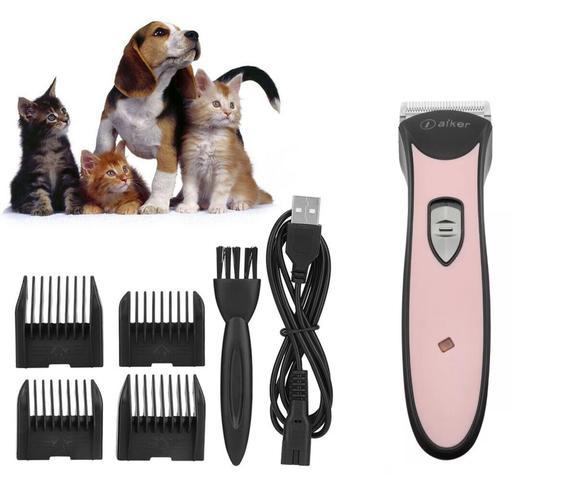 Imagem de Maquina De Tosa Rosa Profissional Sem Fio Pet Cachorro E Gato Dog