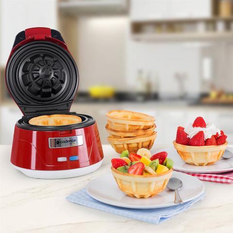 Imagem de Máquina De Waffle Bowl 750W Cestinha Cadence