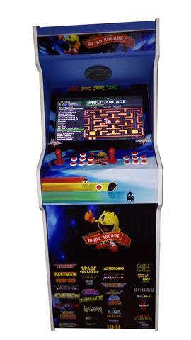 Imagem de Máquina Multijogos Retrô 19 Polegadas Fliperama Video Game Adesivada 2600 Jogos