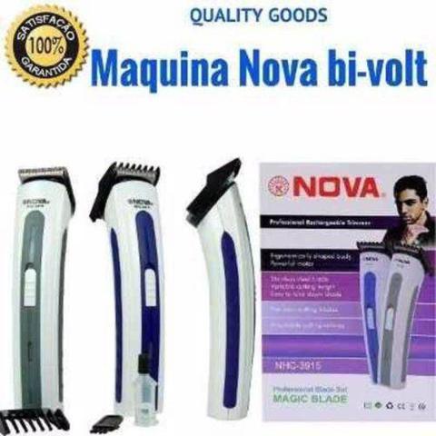 Imagem de Máquina Nova Corta Cabelo Fazer Barba Pezinho Recarregável