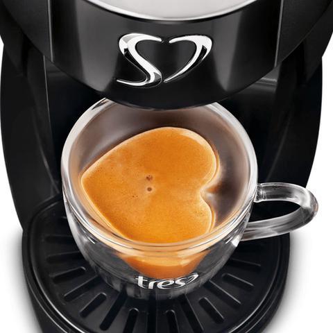 Imagem de Máquina para Café Espresso 3 Corações Touch Preta 220V