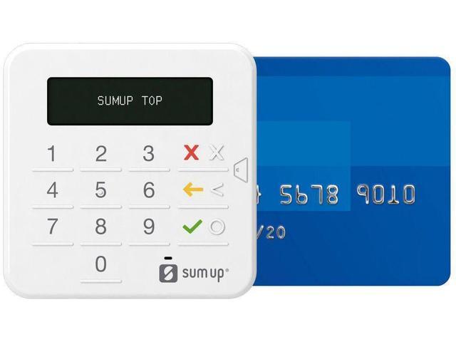 Imagem de Maquininha de Cartão SumUp Sem taxa de Aluguel - Bluetooth  + Capinha de Brinde