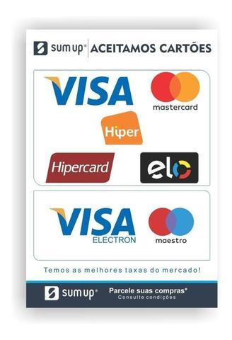 Imagem de Maquininha de Cartão Sumup Top - 1% taxa nos 3 primeiros meses.