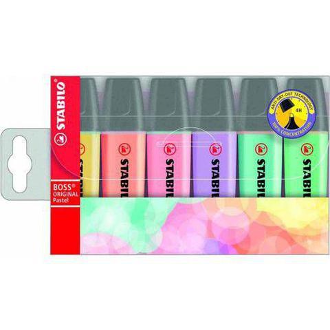 Imagem de Marca Texto Stabilo Boss Pastel Kit Com 06 Cores