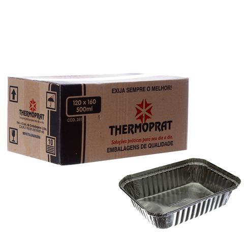 Imagem de Marmitex de Alumínio com Tampa - 500ml Caixa com 100un Thermoprat