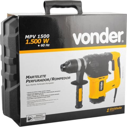 Imagem de Martelete Perfurador e Rompedor 1500W com Maleta MPV 1500 VONDER