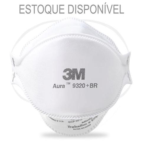 Imagem de Mascara 3m aura 9320+br pff2 branca - kit 10 unidades
