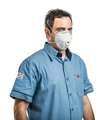 Imagem de Máscara 3m Pff2  8822 Hospitalar C/ Válvula Proteção Respiratória Selo Anvisa  e Inmetro