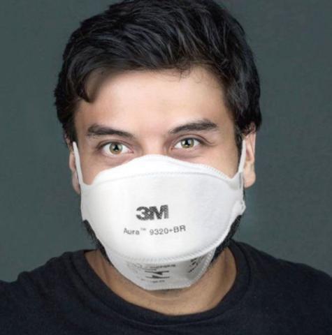Imagem de Máscara 3M PFF2 Aura 9320 BR Respirador Descartável