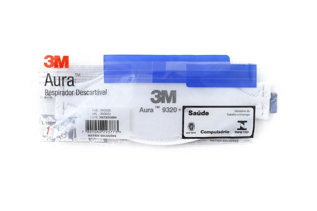 Imagem de Mascara aura 9320+br pff2 (s) branca - kit 10 unidades