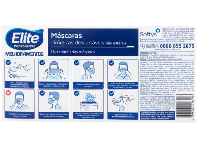 Imagem de Máscara de Proteção Descartável Tripla Camada com