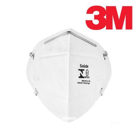 Imagem de Máscara de Proteção Respiratória Respirador PFF-2 (S) para Riscos Biológicos 3M - 9920H