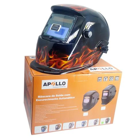 Imagem de Mascara De Solda Eletronica Com Regulagem 9 A 13 Arte Chama - 0000159 - Apollo