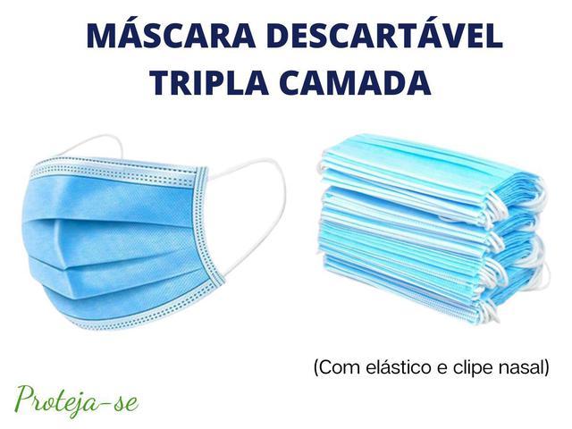 Imagem de Mascara Descartável Cirúrgica Tripla Camada 50 Unidades