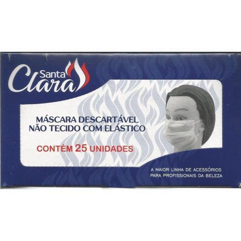 Imagem de Máscara descartável não tecido com elástico santa clara 25un