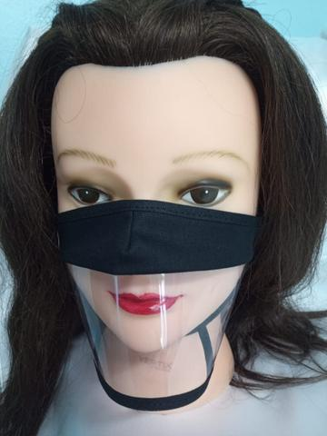 Imagem de Máscara facial Expressão Transparente Preta