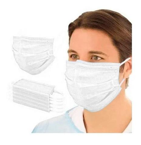 Imagem de Mascara facial respiratória descartável tripla camada com clip nasal 50un radac