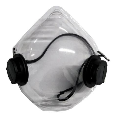 Imagem de Mascara facial transparente com filtro carvao ativado mask 580