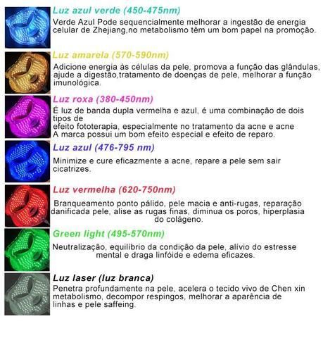 Imagem de Máscara Led 7 Cores Tratamento Facial Fototerapia