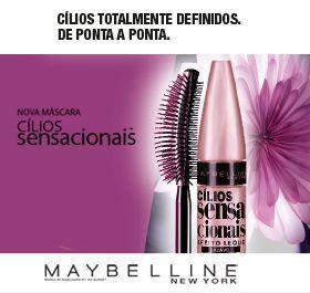 Imagem de Máscara para Cílios Maybelline Cílios Sensacionais Waterproof