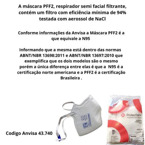 Imagem de Mascara PFF2 (N95-Eua  KN95-China) c/100 unidade Branca