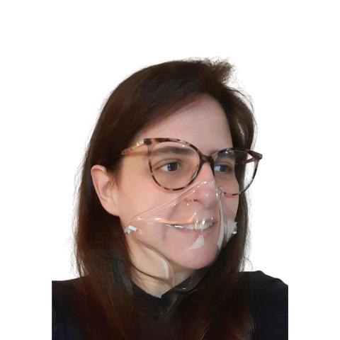 Imagem de Máscara Transparente Reutilizável Para Quem Usa Óculos 5 Un