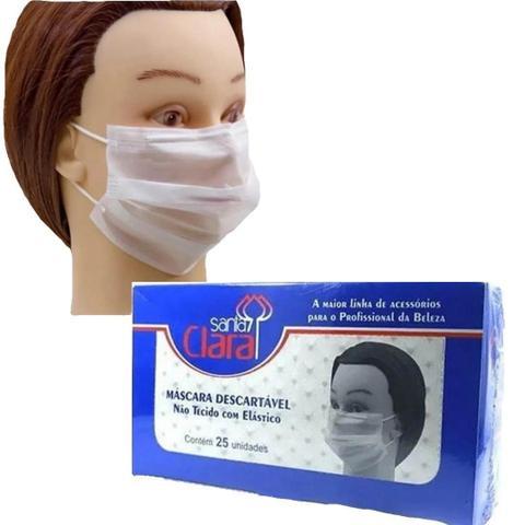 Imagem de Máscaras Desc. Santa Clara Kit 4 Cx Não Tecido C/ Elástico