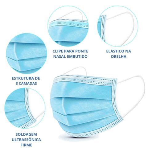 Imagem de Máscaras descartáveis cirúrgica tripla caixa com 50 unid