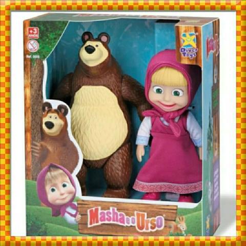 Imagem de Masha e o urso bonecos de vinil divertoys