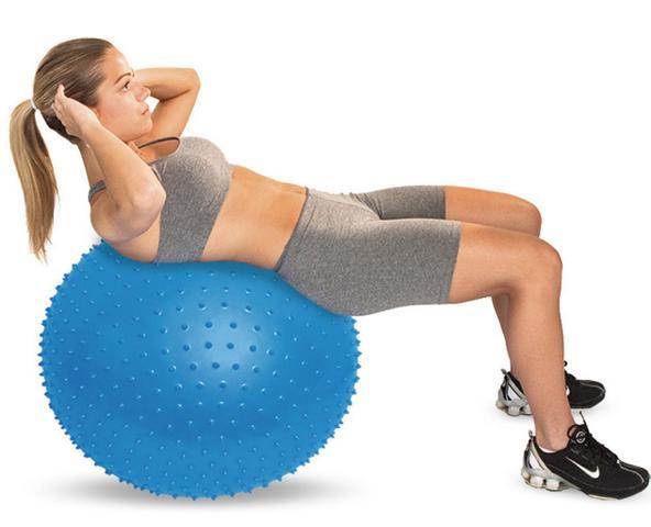 Imagem de Massage Ball Bola De Pilates Relaxamento Ginásio Com Bomba Anti-derrapante Alongamento Ginástica Coordenação Alongament