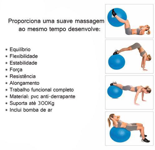 Imagem de Massage Ball Bola De Pilates Yoga Relaxamento Com Bomba Anti-derrapante Alongamento Ginástica Coordenação Alongamento Fitness Acte
