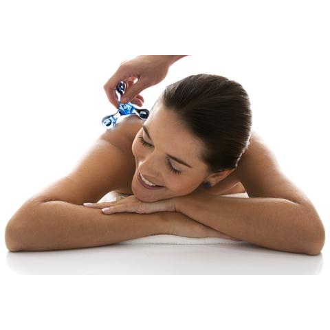 Imagem de Massageador Corporal Pyramid Massage em Acrílico Azul - Relaxmedic RM-MP100