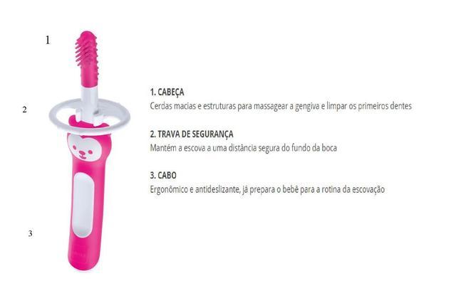 Imagem de Massageador dental Massaging Brush - (3+m)  - Rosa - MAM