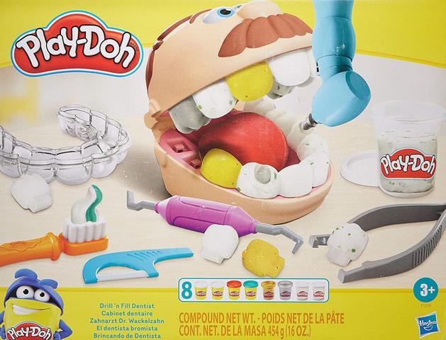 Imagem de Massinha Play Doh Brincando De Dentista Novo - Hasbro F1259